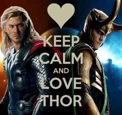 Poster: KEEP CALM AND LOVE THOR
