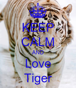 Poster: KEEP CALM AND Love Tiger