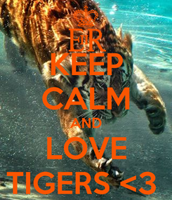 Poster: KEEP CALM AND LOVE TIGERS <3