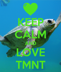 Poster: KEEP CALM AND LOVE TMNT