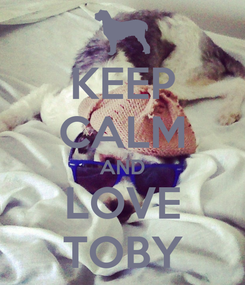 Poster: KEEP CALM AND LOVE TOBY