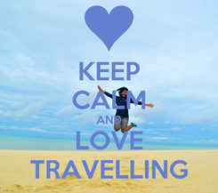 Poster: KEEP CALM AND LOVE TRAVELLING
