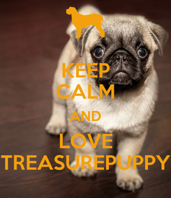 Poster: KEEP CALM AND LOVE TREASUREPUPPY