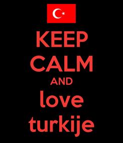 Poster: KEEP CALM AND love turkije
