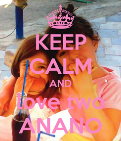 Poster: KEEP CALM AND love two ANANO