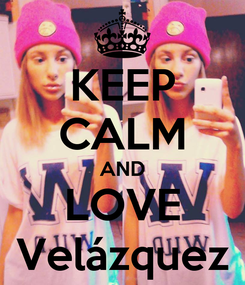 Poster: KEEP CALM AND LOVE Velázquez