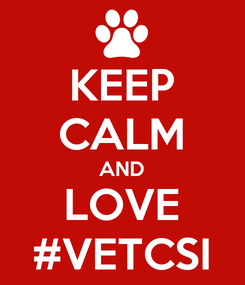 Poster: KEEP CALM AND LOVE #VETCSI