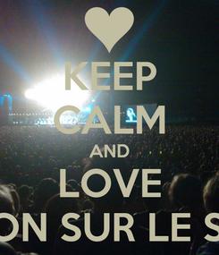 Poster: KEEP CALM AND LOVE VIOLON SUR LE SABLE