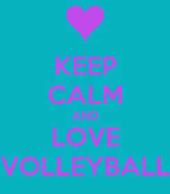 Poster: KEEP CALM AND LOVE VOLLEYBALL