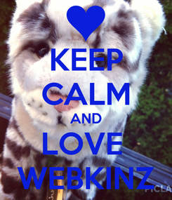 Poster: KEEP CALM AND LOVE  WEBKINZ