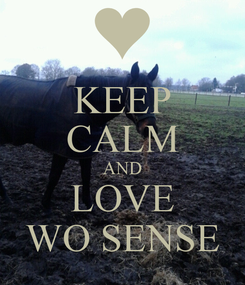 Poster: KEEP CALM AND LOVE WO SENSE