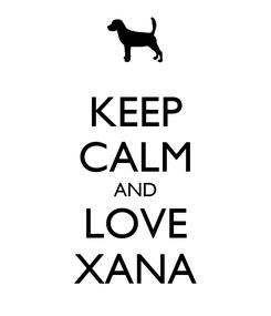 Poster: KEEP CALM AND LOVE XANA