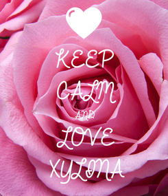 Poster: KEEP CALM AND LOVE XYLINA