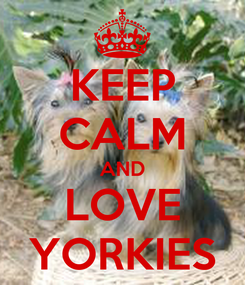 Poster: KEEP CALM AND LOVE YORKIES