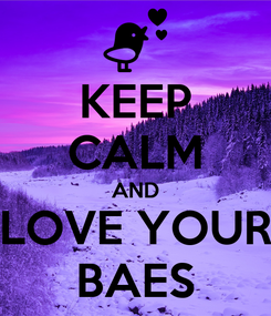 Poster: KEEP CALM AND LOVE YOUR BAES