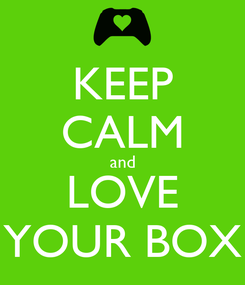Poster: KEEP CALM and LOVE YOUR BOX