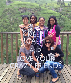 Poster: KEEP CALM AND LOVE YOUR CRAZY FRIENDS