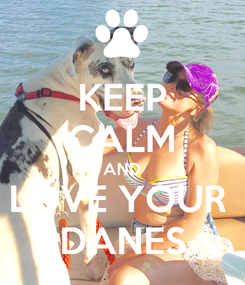 Poster: KEEP CALM AND LOVE YOUR  DANES