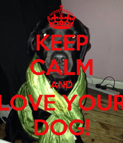 Poster: KEEP CALM AND LOVE YOUR DOG!