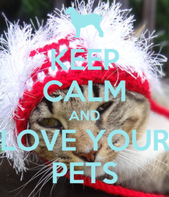Poster: KEEP CALM AND LOVE YOUR PETS