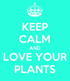 Poster: KEEP CALM AND LOVE YOUR PLANTS