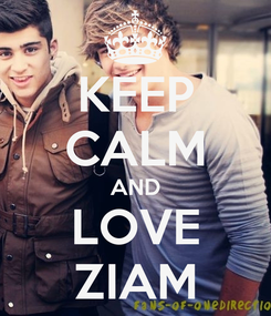 Poster: KEEP CALM AND LOVE ZIAM