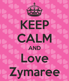 Poster: KEEP CALM AND Love Zymaree