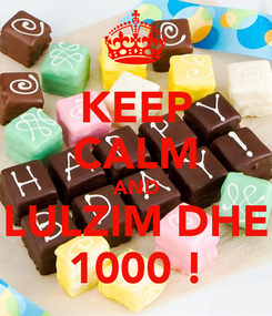 Poster: KEEP CALM AND LULZIM DHE 1000 !