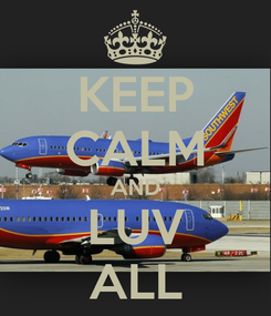 Poster: KEEP CALM AND LUV ALL