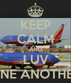 Poster: KEEP CALM AND LUV ONE ANOTHER