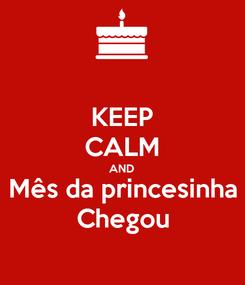 Poster: KEEP CALM AND Mês da princesinha Chegou