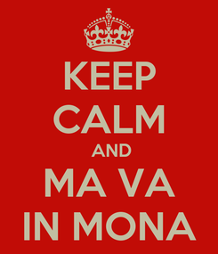 Poster: KEEP CALM  AND MA VA IN MONA