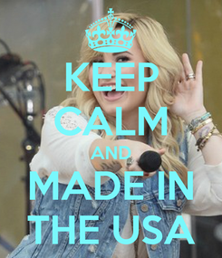 Poster: KEEP CALM AND MADE IN THE USA