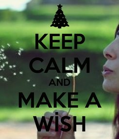 Poster: KEEP CALM AND MAKE A WİSH