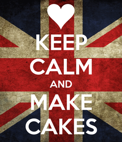 Poster: KEEP CALM AND MAKE CAKES