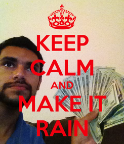 Poster: KEEP CALM AND MAKE IT RAIN