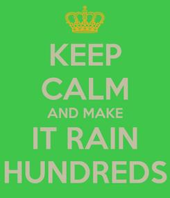 Poster: KEEP CALM AND MAKE IT RAIN HUNDREDS