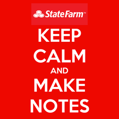 Poster: KEEP CALM AND MAKE NOTES