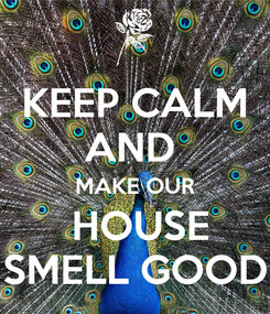 Poster: KEEP CALM AND  MAKE OUR  HOUSE SMELL GOOD