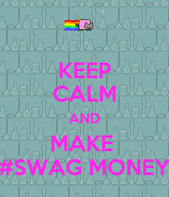 Poster: KEEP CALM AND MAKE  #SWAG MONEY