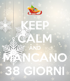 Poster: KEEP CALM AND MANCANO 38 GIORNI
