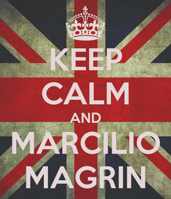 Poster: KEEP CALM AND MARCILIO MAGRIN