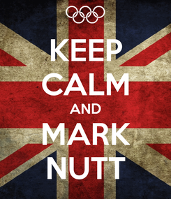 Poster: KEEP CALM AND MARK NUTT