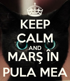 Poster: KEEP CALM AND MARŞ ÎN  PULA MEA