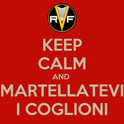 Poster: KEEP CALM AND  MARTELLATEVI I COGLIONI
