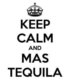 Poster: KEEP CALM AND MAS TEQUILA