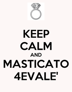Poster: KEEP CALM AND MASTICATO 4EVALE'