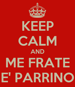 Poster: KEEP CALM AND ME FRATE E' PARRINO