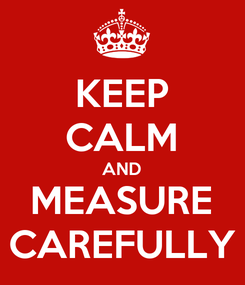 Poster: KEEP CALM AND MEASURE CAREFULLY