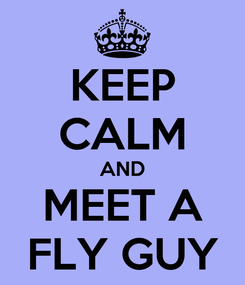Poster: KEEP CALM AND MEET A FLY GUY